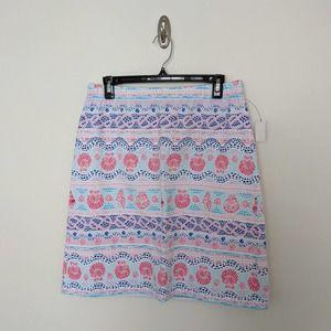 NWT Talbots Patterned Skirt Sz. Med Petite